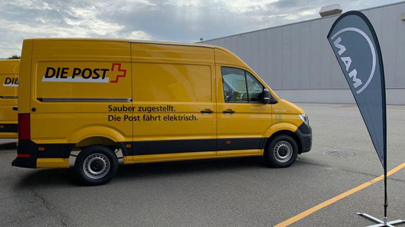 Elf neue E-Lieferwagen für die Post |